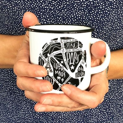 Mugs - Enamel mug - City Map - TOKIKO
