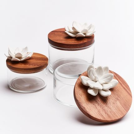 Platter, bowls - Boxes - set of 3 canister - ANOQ