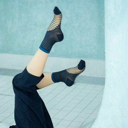 Chaussettes - Coffret 3 paires Bleu - ATELIER ST EUSTACHE
