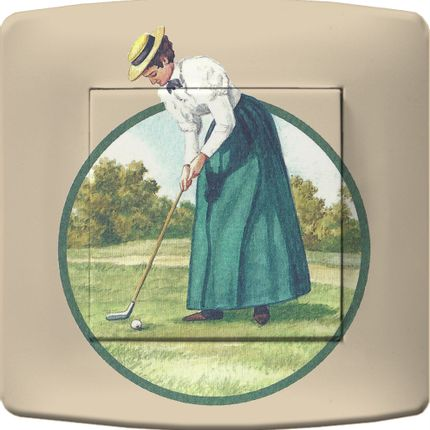 Personalizable objects - DECORATED ELECTRICAL LIGHTS SWITCHES GOLF COLLECTION - LA MAISON DE GASPARD / FP CONCEPT