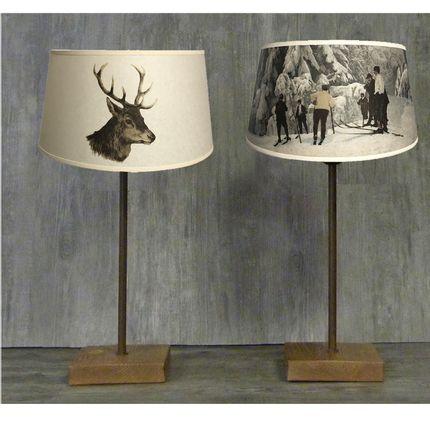 """Table lamps - MOUNTAIN LAMPS """" ALPINA """"COLLECTION - LA MAISON DE GASPARD / FP CONCEPT"""