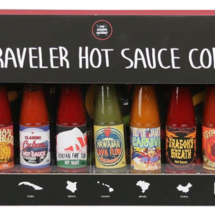 Spices - 15PK WORLD TRAVELER HOT SAUCE - MODERN GOURMET FOODS