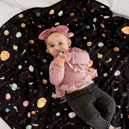 Kids accessories - Muslin Swaddle - Planets - LOULOU LOLLIPOP