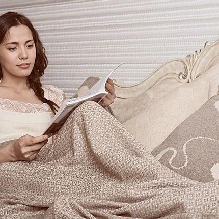Throw blankets - 100% cashmere woven blankets throws - ERDENET CASHMERE
