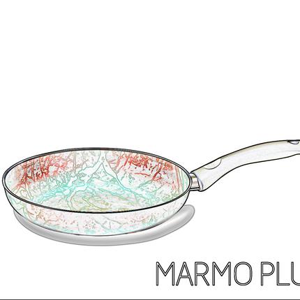 Frying pans - Marmoplus™  fryingpan Red & Black - NUOVA H.S.S.C.
