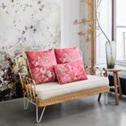Cushions - Rose Fraise Grand coussin velours - ILLUSTRE