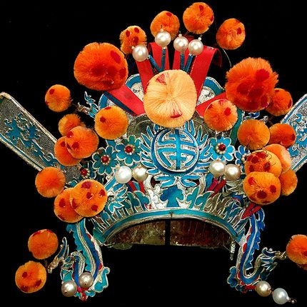 Unique pieces - Old Chinese Theater Headdresses - ASIADECORATION / OBJETSCHINOIS