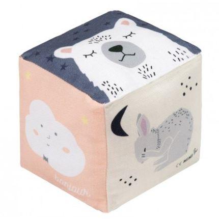 Toys -  CUBE COTON - BONJOUR - MIMI'LOU