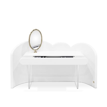 Children's bedrooms - Cloud Vanity Console White - CIRCU