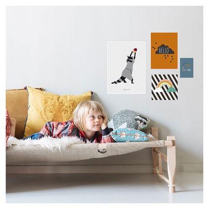 Children's bedrooms - LOT DE 4 AFFICHES - HELLO - MIMI'LOU