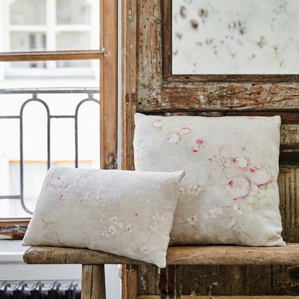 Cushions - ROSE POUDRE PETIT COUSSIN LIN - ILLUSTRE