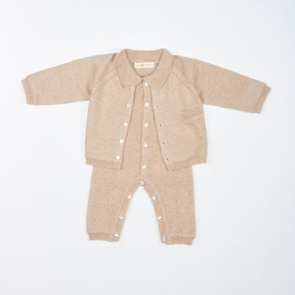 Children's fashion - LUCE twin set knitted by 100% cashmere - SOL DE MAYO