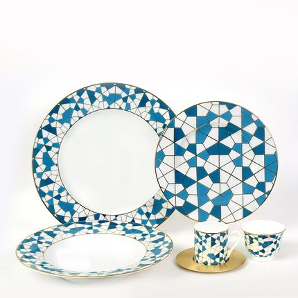 Formal plates - Geo Blue Set - ZARINA
