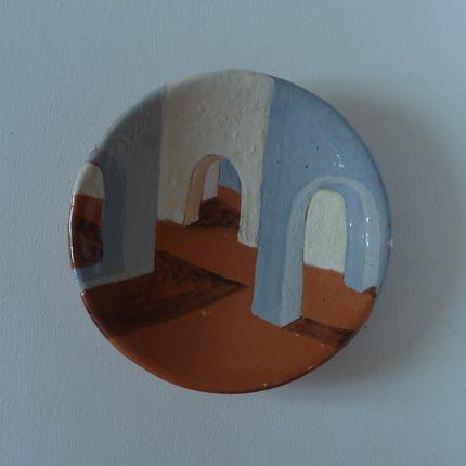 Decorative objects - bowl with décor architectural - ELISABETH BOURGET