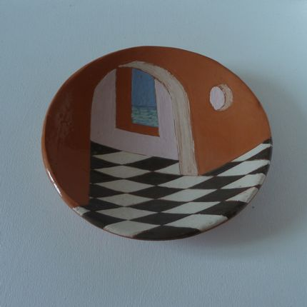 Decorative objects - bowl with décor architectural - ELISABETH BOURGET