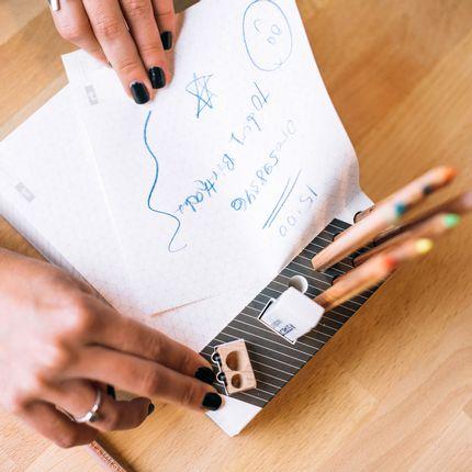 Gift - Memo Pad & Organizer - Color Pencils - PULP SHOP