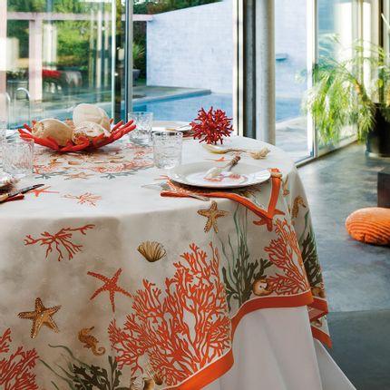 Linge de table - Nappe Corail - BEAUVILLÉ