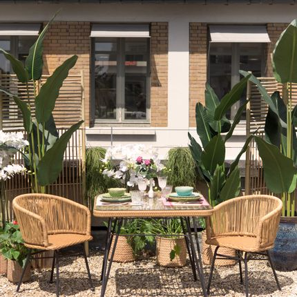 Fauteuils de jardin - Table carrée outdoor SERRA et fauteuils VILAS - ASIATIDES