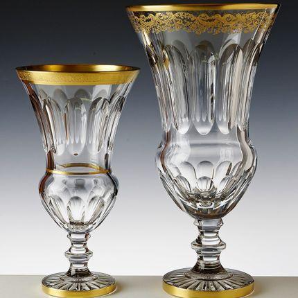 Crystalware - FOOTED VASE NORA GOLD - CRISTAL DE PARIS