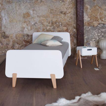 Beds - Lit MM bois 90x190 cm - LAURETTE