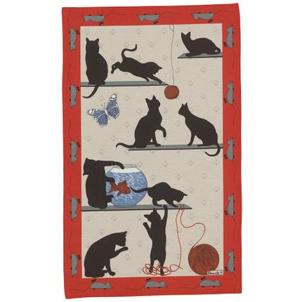 Dish towels - Chat Pitre Tea-Towel - BEAUVILLÉ