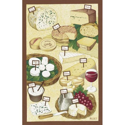 Dish towels - Fromages Tea-Towel - BEAUVILLÉ