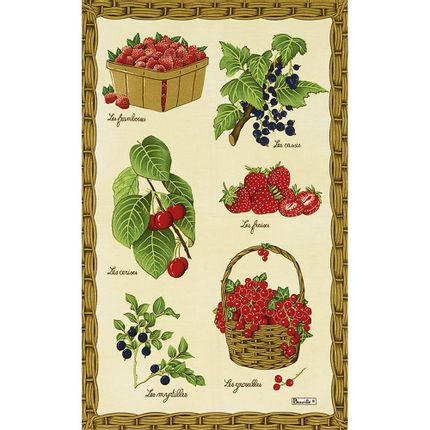 Dish towels - Fruits Rouges Tea-Towel - BEAUVILLÉ