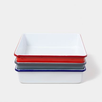 Assiettes au quotidien - Square Bake Tins - FALCON ENAMELWARE