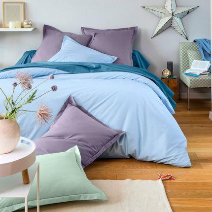 Bed linens - Plain linen in percale of cotton  - TRADITION DES VOSGES