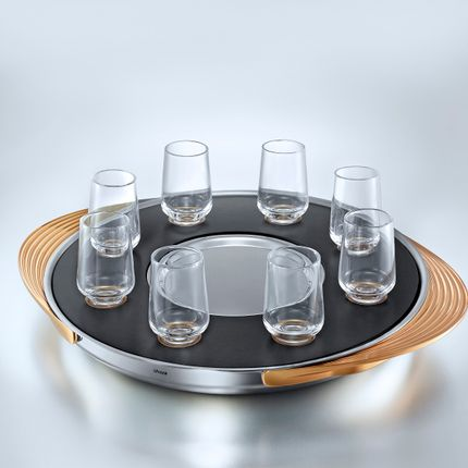 Wine - THE  MAGICAL TURNTABLE - Your special Shots Tray - SHAZE LUXURY RETAIL PVT LTD