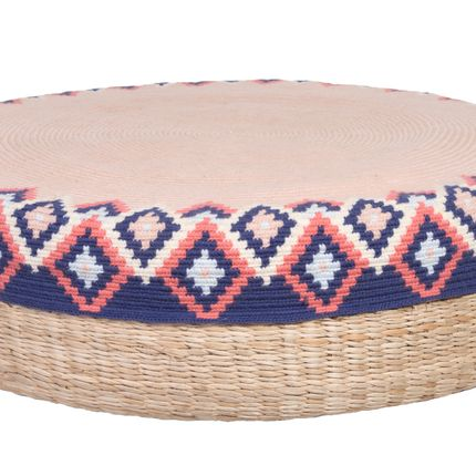 Ottomans - Handmade Peruvian Pouf/Ottoman Rose - D.A.R. PROJECTS