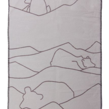 kids linen - Polar Bear designer junior blanket in soft organic cotton - FABGOOSE