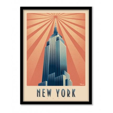 "Affiches - AFFICHE MARCEL NEW YORK ""EMPIRE STATE BUILDING"" - MARCEL TRAVELPOSTERS"