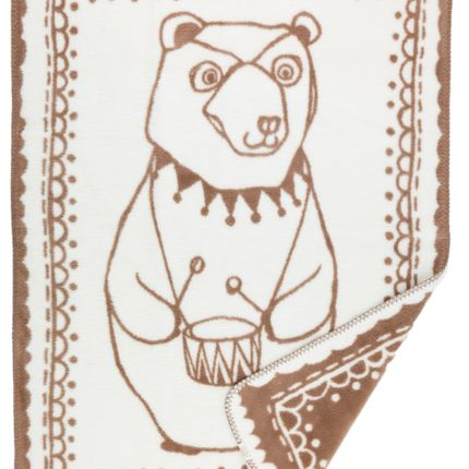 kids linen - Circus Bear organic cotton baby blanket - FABGOOSE
