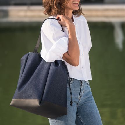 Bags / totes - Big Boat – blue denim – L - DALZOTTO