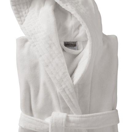 Bath linens - Elyse shaved velvet cotton bathrobe - TRADITION DES VOSGES