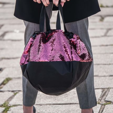 Bags / totes - Love Affair – Reversible red burgundy sequins - DALZOTTO