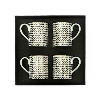 Mugs - SET OF 4 PORCELAIN MUGS - ZARINA