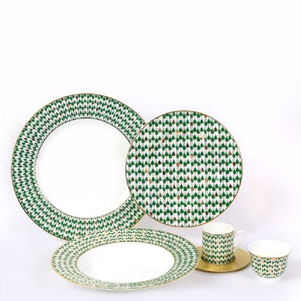 Formal plates - Swirl Green Set - ZARINA