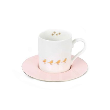Mugs - Set of 6 Espresso Enamel  - ZARINA