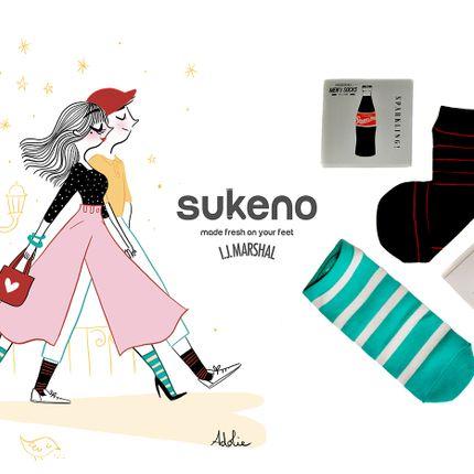 """Gift - Chaussettes pour Femmes  """"Plus One"""" - ABINGPLUS"""