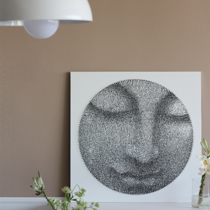 "Wall decoration - Art-Canvas ""Buddha"" - Made In Unique ""Painting"" Technique - STRING THEORY"