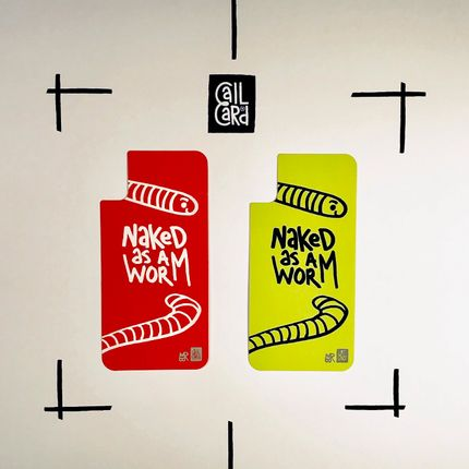 Objets design - NAKED AS A WORM - CALL CARD®