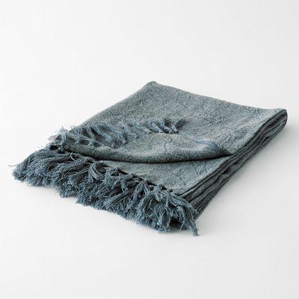 Throw blankets - DRAP DE PLAGE ANGE-TOUSSAINT BLEU DÉLAVÉ - PLAIDS COCOONING