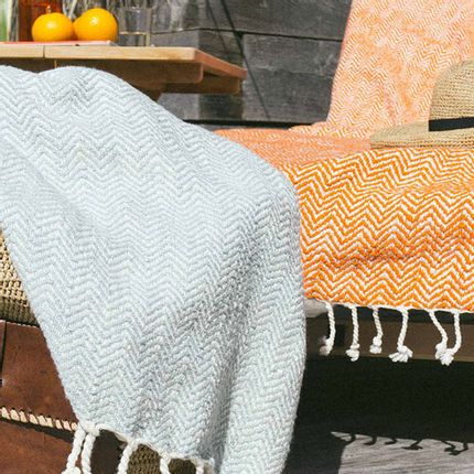 Throw blankets - DRAP DE PLAGE MARCO POLO - PLAIDS COCOONING