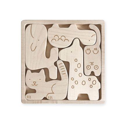 Jouets - Puzzle Animaux - BRIKI VROOM VROOM