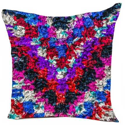 "Cushions  - ""PURPLE RAIN"" cushion, cotton or velvet, Ethnic prints - ARTPILO"