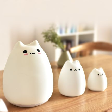 Table lamps - Cat LED Lamp night light in silicone  - KELYS- LUXYS