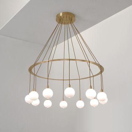 Plafonniers - Drape Circle12 chandelier - SKLO