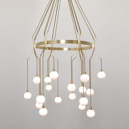 Ceiling lights - Drape Skirt18 chandelier - SKLO